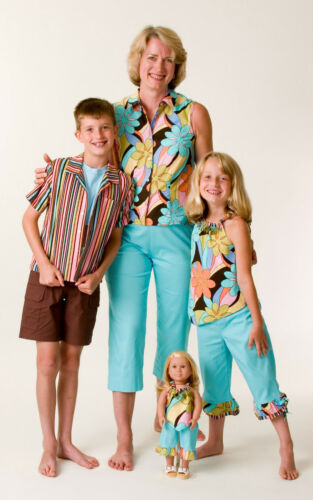 Bright Fun Coordinates Retro Cha Cha Matching Sibling Brother-Sister and Mom