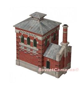 Details about 1/87 HO Scale Building Oil-pump house Railway Railroad  Cardboard Model Kit