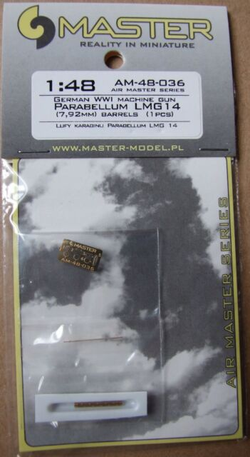 FOKKER EINDECKER PARABELLUM LMG 14 METAL BARREL to LVG ETC #48036 1//48 MASTER