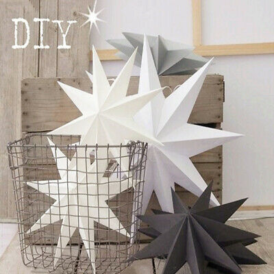 30cm Xmas Folded Paper Pentagram 3D Hanging Paper Stars for Wedding Birthday