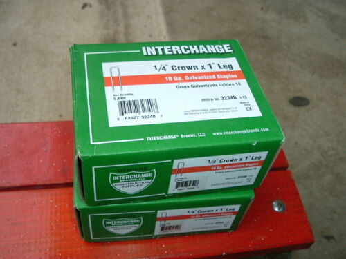 "2 packs 14"" crown,1"" legs STAPLES,18 gauge, Interchange # 32340, 5000PACK"