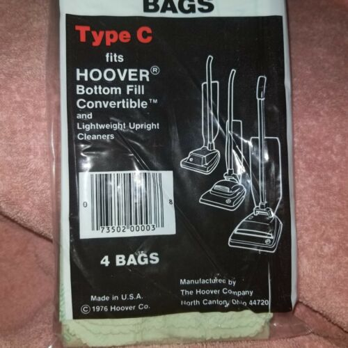 FreeSHIP Vacuum Bags NEW SEALED 4 pack HOOVER TYPE C Bottom Fill Convertible