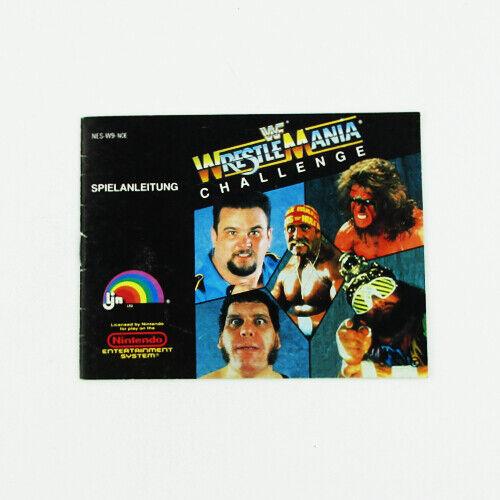 Instructions de NES Jeu WWF Wrestlemania Challenge