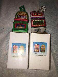 "3.5"" porcelein casino hinged box ornament set"