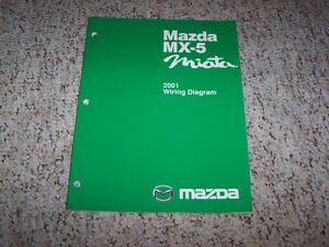 2001 Mazda MX-5 MX5 Miata Electrical Wiring Diagram Manual ...