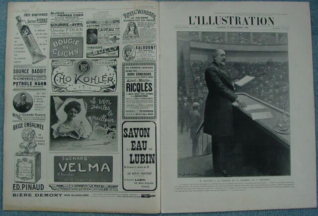 L'ILLUSTRATION 3278 DU 23/12/1905 ROUVIER ROCKEFELLER LES POSTES RUSSE ALGESIRAS