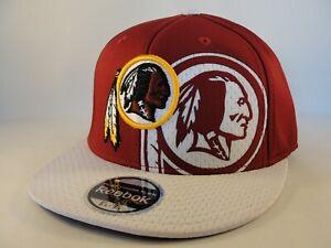 f82b53b2 Details about Washington Redskins NFL Reebok Flex Hat Cap Size S/M Burgundy  White