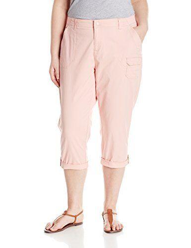 Lee Womens Relaxed Fit Carsen Knit Waist Capri Pants Plus Size 20W Medium