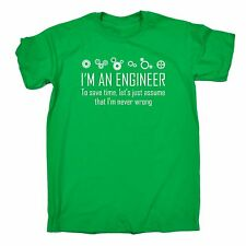Im An Engineer To Save Time Never Wrong T-SHIRT Geek Math Funny Gift fathers day