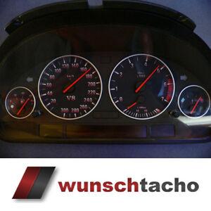 Tachoscheibe-fuer-BMW-E38-E39-E53-X5-034-Black-Red-V8-034-Benziner