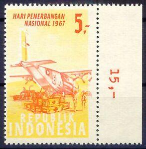 Avoir Un Esprit De Recherche Indonesia 1967 National Flight Day 5 R Transport Bâche U/m Variety Missing Color-afficher Le Titre D'origine