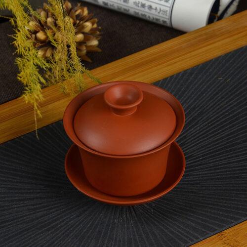 Chinese zisha purple clay porcelain gaiwan kungfu tea set tureen promotion bowl