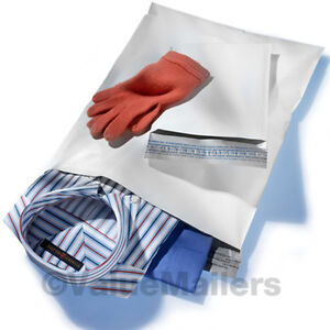 100-12x16-WHITE-POLY-MAILERS-ENVELOPES-BAGS-12-x-16