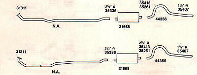 1971-72 CHARGER, ROADRUNNER & SATELLITE DUAL EXHAUST, ALUMINIZED, W/383 & 400 CI