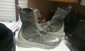 e6a5df75e2dc Nike KD 8 VIII Elite High Neutral Grey Size 16 15 834185-001 jordan ...
