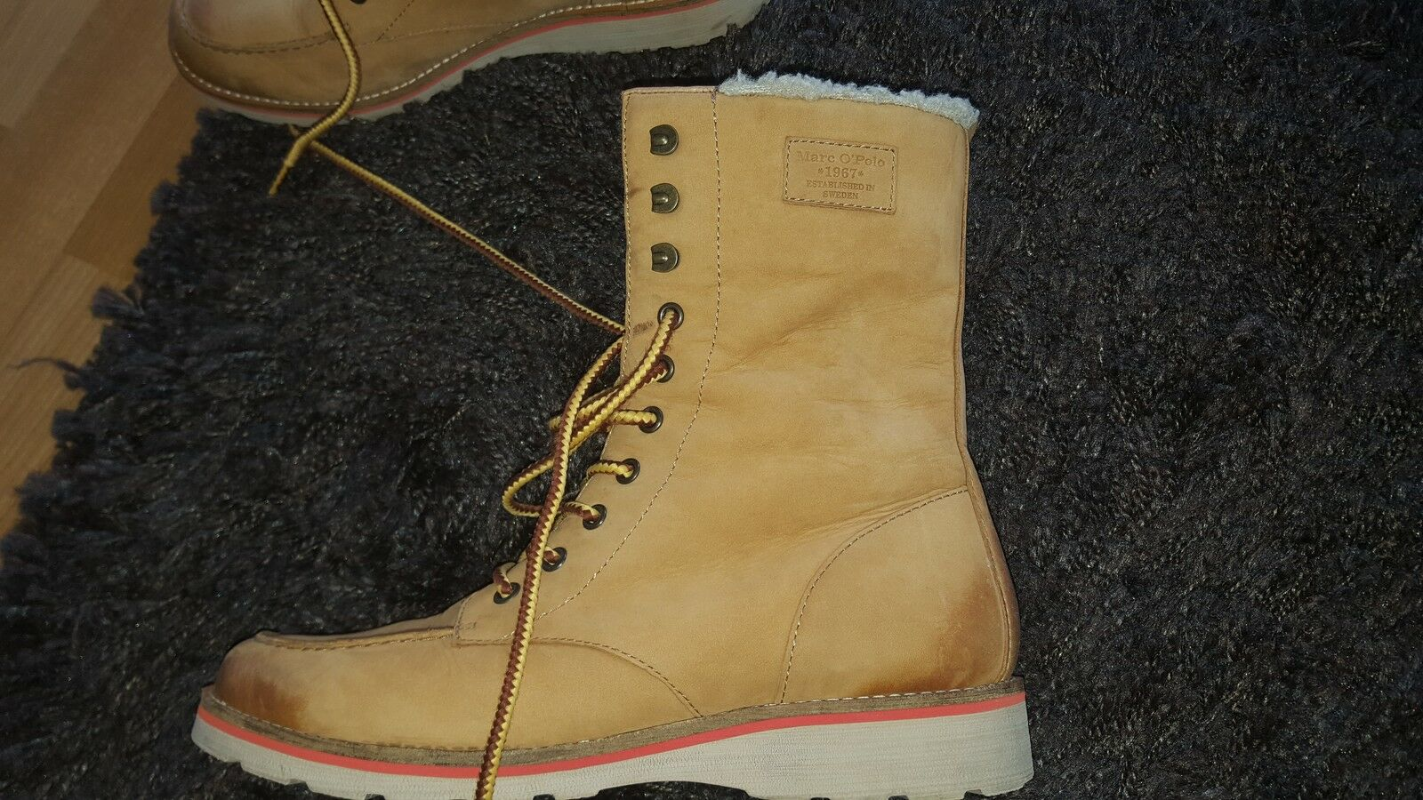 Marc Fell O Polo Winterboots mit Fell Marc cognacfarben Größe 8 NP 533e9c