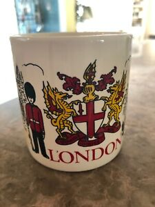 Vintage-London-Souvenir-Coffee-Mug-Cup-Made-in-England-FPC