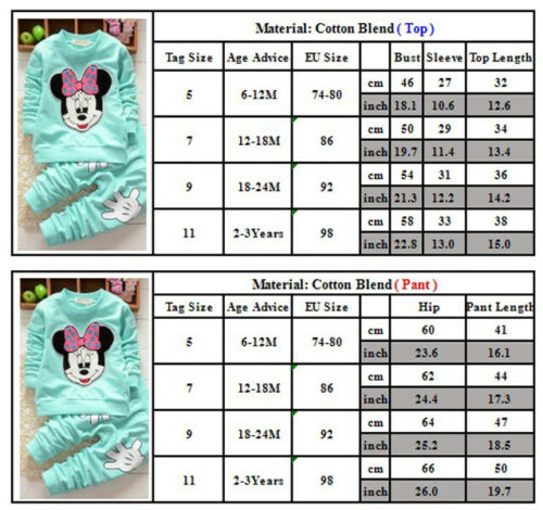 Kids Baby Girls Tracksuit Sweater Tops+Trousers Pants 2Pcs Clothes Outfit Sets