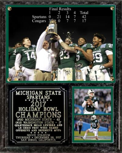Michigan State 2017 Holiday Bowl Champions Photo Plaque