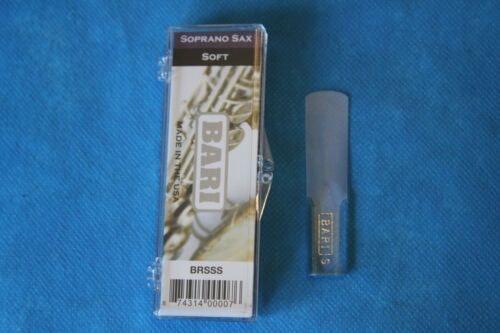 Bari Woodwinds Original Series Synthetic Soprano Sax Reed,Med. Soft,2.5-3,BRSSMS