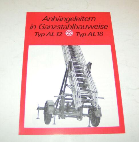 Prospekt DDR Anhänger Ausgabe 1980 Anhängeleitern AL 12 AL 18