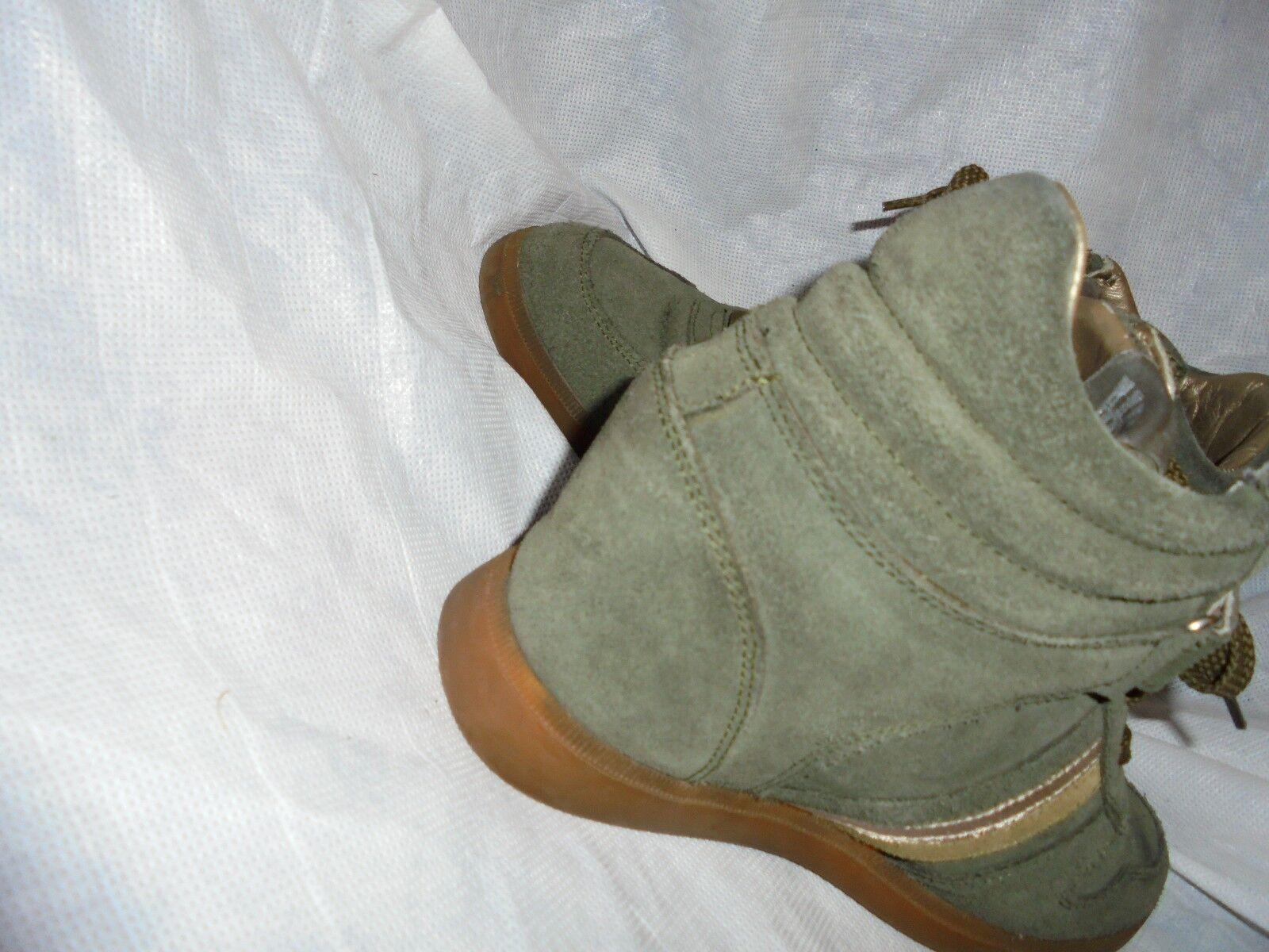SERAFINI donna verdi in pelle e Lacci pelle scamosciata Boot Lacci e Zeppa Misura EU 38 in buonissima condizione 1d289e