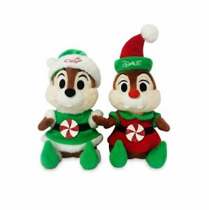 NEW 2020 Disney Parks Christmas Holiday Santa's Elves Chip And Dale Plush Set