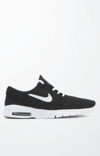Uomo Nike SB Stefan Janoski Max Nero & White SHOES SNEAKERS NEW Size 12