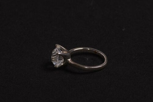 S465 Magnificent Ladies Silver Ring w Large Crystal TWO SIZES