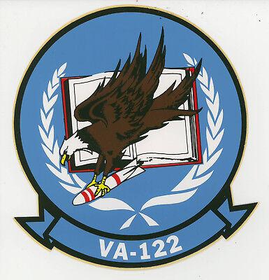 "AIRTEVRON ONE  2ea NAVY DECALS 4.25/""X4.5/"" MYLAR"