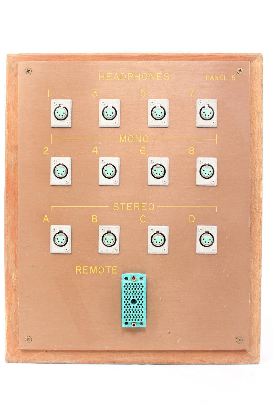 Panel de Parche Bahía Bahía Bahía de Auriculares Personalizada con 12x 4-Pin XLRF Conectores y 1x 90-Pin Elco  5  solo cómpralo