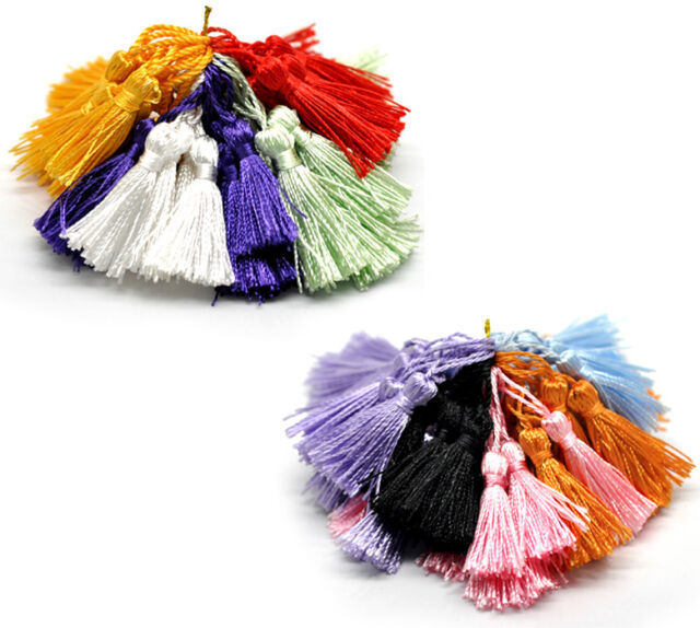 """100PCs Mixed Silky Tassels for Making Cothes Keyring Earring Necklace 1-3/4""""-2"""""""