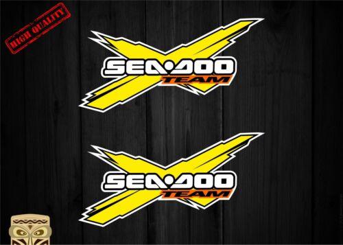 Autocollant Décalcomanie Sticker Adesivi Aufkleber 2 X Team Seadoo Sea Doo