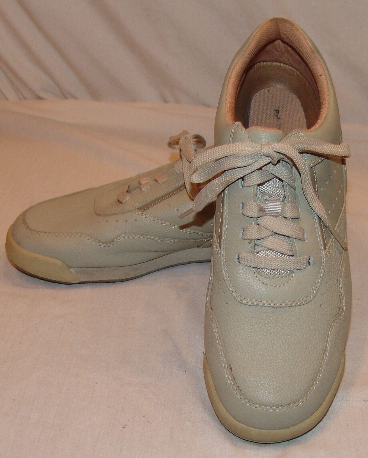 Rockport Prowalker Mens Walking shoes 8 1 2 8.5 Beige Pro Walker Casual