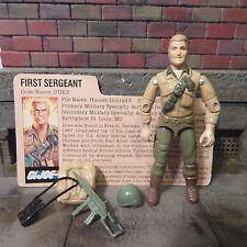 GI JOE ~ 1984 DUKE ~ FIRST SERGEANT ~ 100% COMPLETE with file card