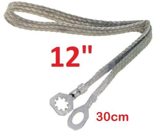 "Copper Ground//Bonding-Strap Universal 12/"" Strip//Cable Tin-Coated 30cm"