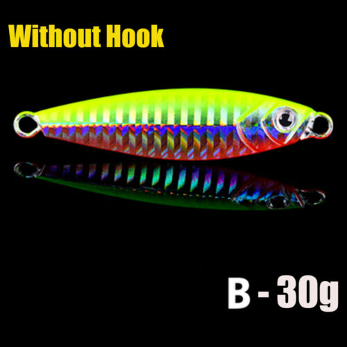 Feather Metal Fishing Lures Spinning Baits Lead Casting Jig Bait