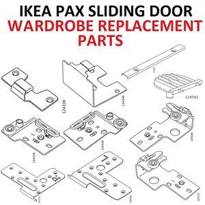 Details About Ikea Pax Wardrobe Replacement Parts Sliding Door Frame Bracket Hinge 124335