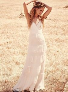 Image Is Loading Free People Tiered Lace Maxi Wedding Dress By