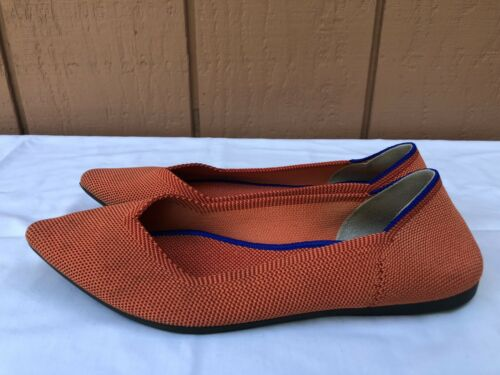 RARE Retired Rothy's Rothys The Point Orange Women