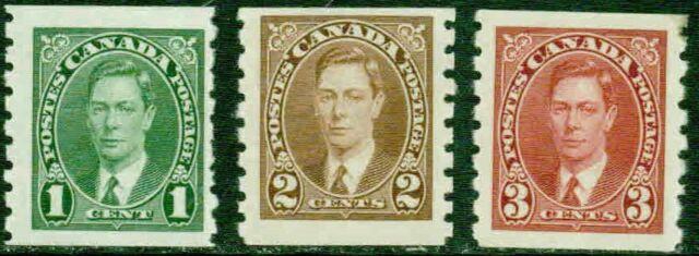 CANADA–1937– KING GEORGE VI COILS – F- VF*
