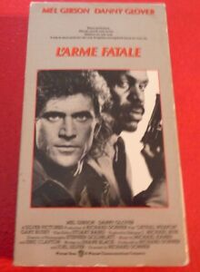 Rare-VHS-French-Movie-L-039-arme-Fatale-Lethal-Weapon-Mel-Gibson