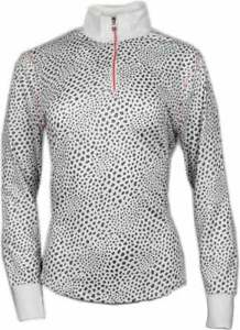 Page-amp-Tuttle-Gradient-Animal-Print-Mock-Neck-Womens-Athletic-Pullover