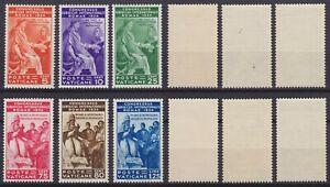"""Vaticano 1935 """"Congresso Giuridico"""" n.41-46 serie nuova MLH* linguellata"""