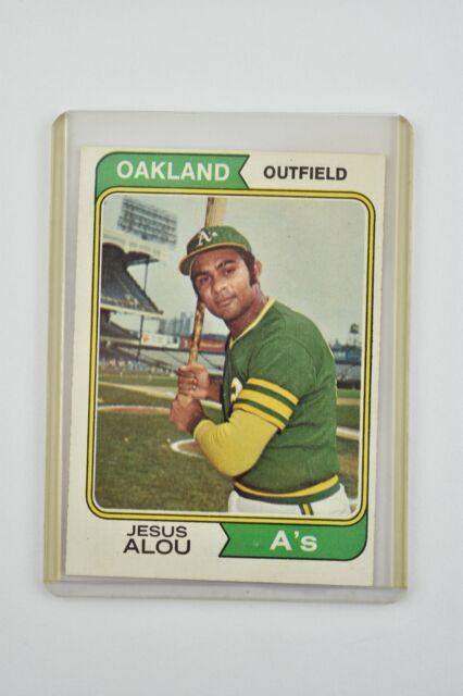 1974 Topps Oakland Athletics Jesus Alou #654 Baseball Card Great Condition