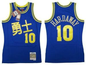 1990-91 Tim Hardaway #10 Warriors Mens Mitchell & Ness CNY Swingman Jersey