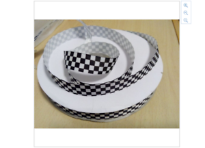 black and white checkered ribbon black and white grid racing cars 1m