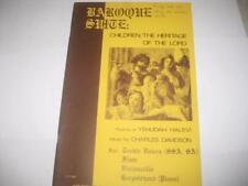 JEWISH MUSIC NOTES-CHARLES DAVIDSON Baroque suite : nahalat Adonai banim : child