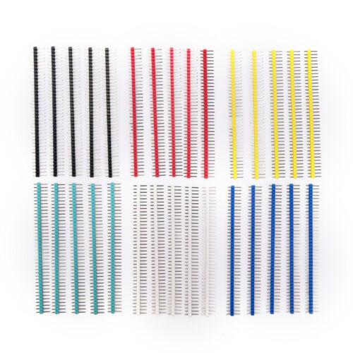 30x 40Pin Connecteur Mâle 2,54mm Pitch Pin Header Strip Singles Row Kit pour HQ