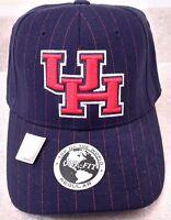 University Of Houston Uh Cougars Ncaa Baseball Cap Blue/ Red Pinstripe One Size